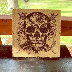 Skeleton GOTHIC Halloween apothecary framed art